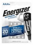 Батарейки Energizer Ultimate Lithium AAA FR03 4BL